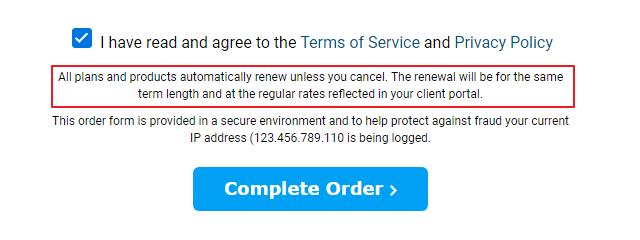 HOSTWINDS确认付款